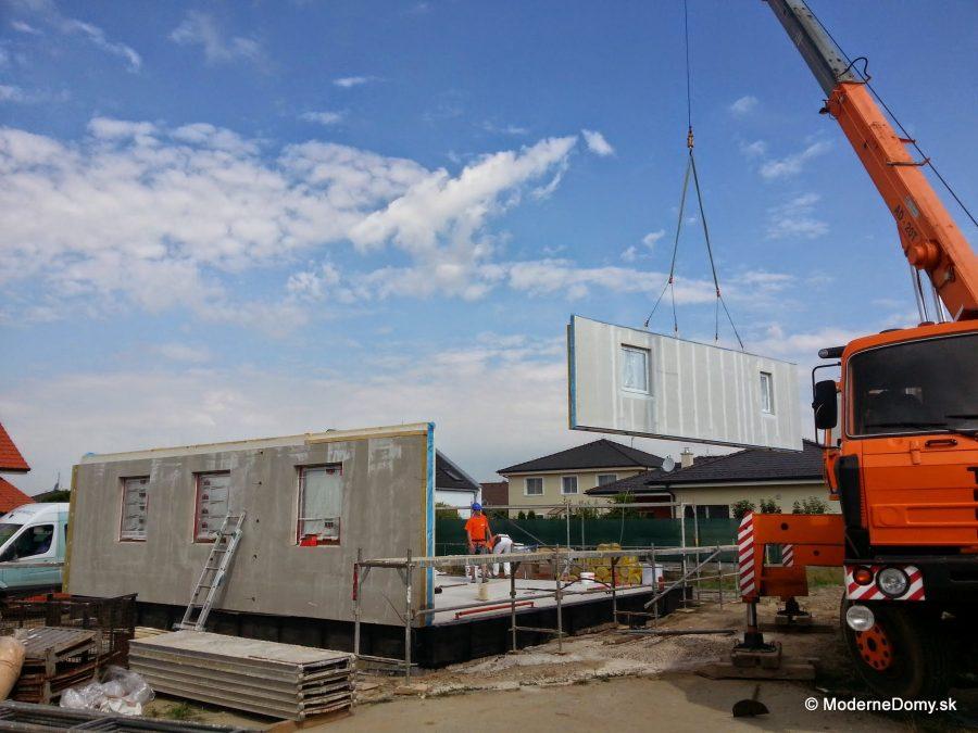 Montovaný drevodom Nova 78 priebeh stavby